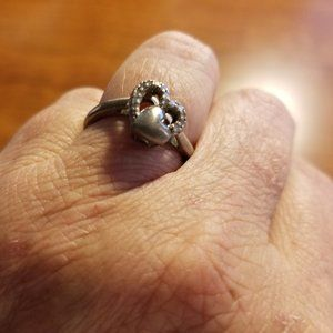 925 Ring w Heart within a Heart